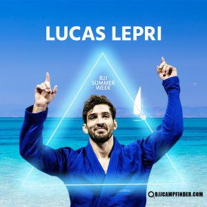 Lucas Lepri will be one of the professors teaching at BJJ Summer Week 2020
